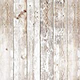 17.8in x 16.4ft Wood Peel and Stick Wallpaper Self-Adhesive Removable Wall Covering Decorative Vintage Wood Panel Faux Distressed Wood Plank Wooden Grain Film Vinyl Decal Roll