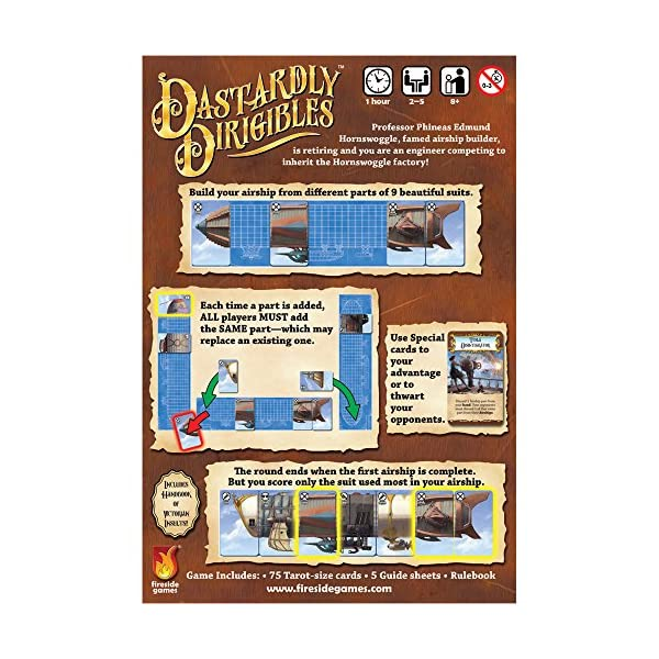 Fireside Games Dastardly Dirigibles Board Game - Board Games for Families - Board Games for Adults 4
