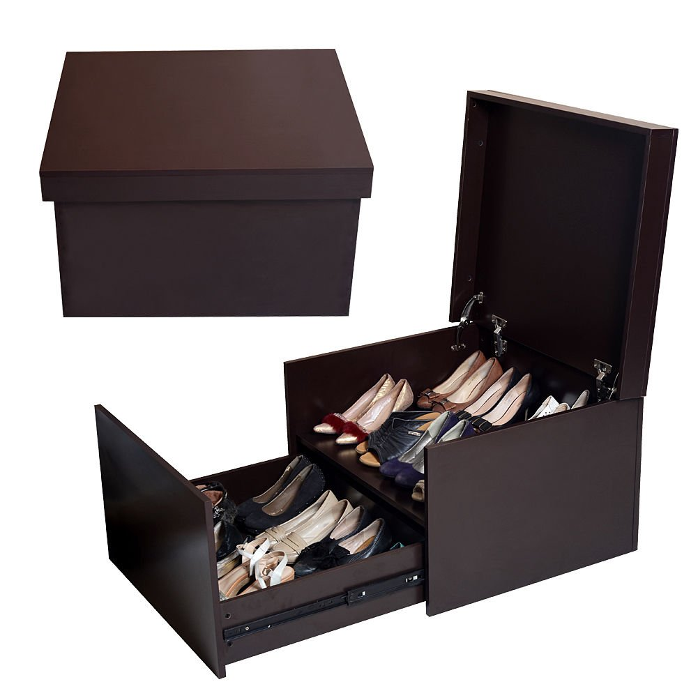 Amazoncom GLS Brown Large Shoe Cabinet Box