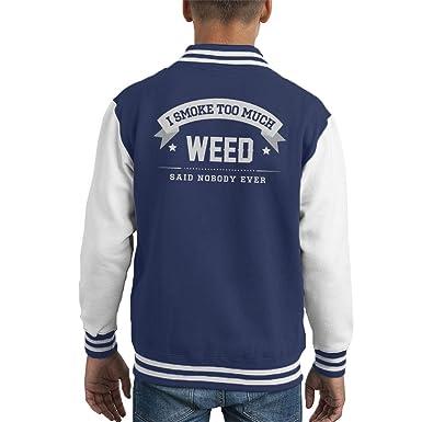 Coto7 I Smoke Too Much Weed Said Nobody Ever Kid's Varsity Jacket