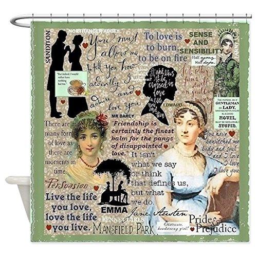 Jane Austen Fabric - CafePress - Austen - Decorative Fabric Shower Curtain (69