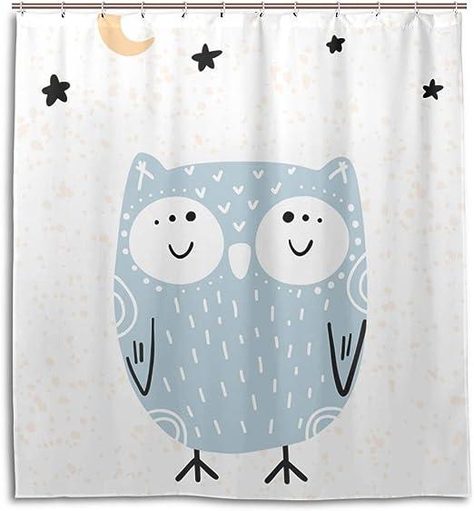 Amazon.com: Mens Bathroom Curtain Sleeping Owl Good Night Mens