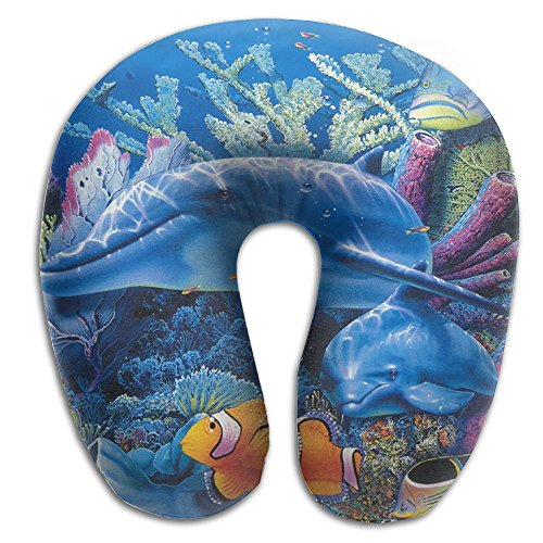 (PengMin Dolphin Sea Fish Comfortable Travel Pillow, Comfortable Pillow For The Main Pillow, Comfortable Pillow, Provide Relief And Support For Travel, Family, Work, Neck Pain, Etc.)
