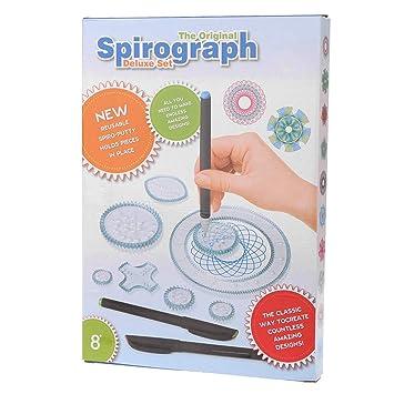ZJL220 Spirograph Dibujo Juguetes Set Engranajes de Enclavamiento Ruedas Niños Accesorios de Pintura Juguete Educativo Creativo 22 Unids: Amazon.es: Hogar