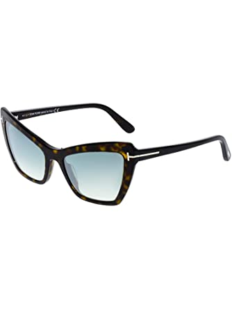 4ddca6fead9 Image Unavailable. Image not available for. Color  Tom Ford Women s  Mirrored Valesca FT0555-52X-55 Brown Cat Eye Sunglasses