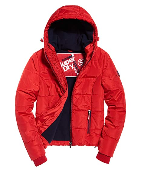 f92271f08cc7df Superdry New RRP£79.99 XL Size Womens Sports Puffer Winter Jacket Bright  Red Coat: Amazon.co.uk: Clothing