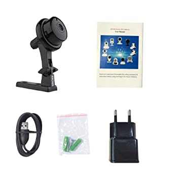 Escam Q6 mini HD 720P Cámara de vigilancia, monitor en tiempo real pequeño Compact