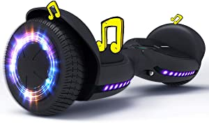 TOMOLOO Hoverboard Bluetooth with Led Light Flashing Wheels, Hover Board for Kids, Self Balancing Hoverboards Adult