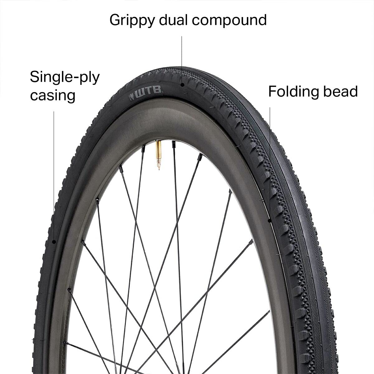 WTB Byway 700 x 40 Road Gravel Adventure Tire TCS Tubeless