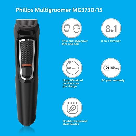 Philips Mg3730 15 Multi Grooming Set (Black)  Amazon.in  Health   Personal  Care 997b78c8275