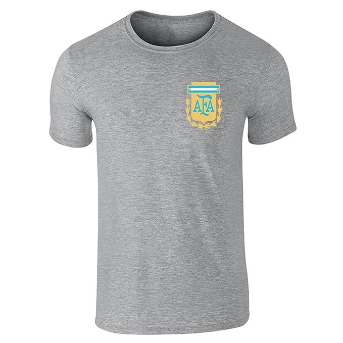 Argentina Futbol fútbol Retro Nacional Equipo Camiseta de manga corta por Pop hilos Gris gris XXX-Large: Amazon.es: Ropa y accesorios