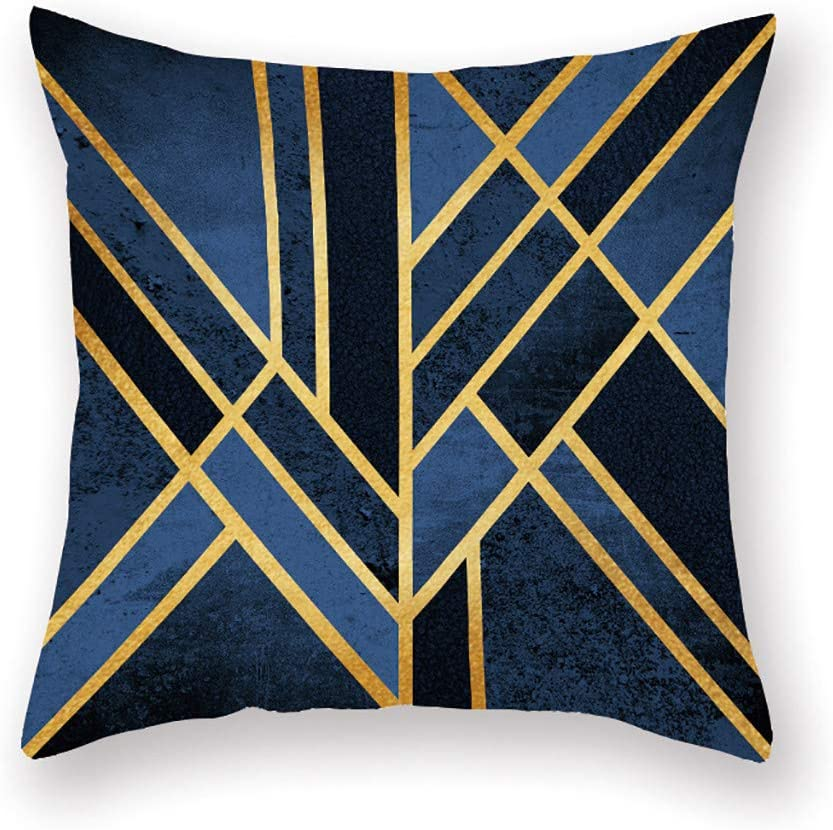 Modern Throw Pillow Cover Contemporary Simple Modern Geometric Decorative Pillow Case Home Decor Square 18x18 Inch Pillowcase