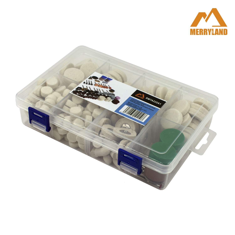Merryland Mini Drehwerkzeug Zubeh/ör 145 pcs Polierrad Polierspitze Polierpaste f/ür Elektrowerkzeuge DIY