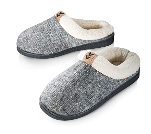 ad197a3697e Pupeez Girls Cozy Warm Sweater Knitted Slipper; A Luxury Style Kids House  Shoe with Rubber Sole Grey
