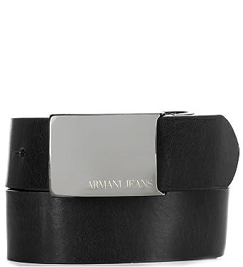 Amazon Com Armani Jeans Mens Black Genuine Leather Aj Belt Clothing