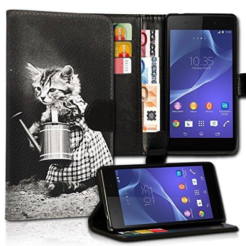 Wallet Book Style Flip Handy Tasche Case Schutz Hülle Schale Motiv Etui für Apple iPhone 4 / 4S - Design Flip MV275