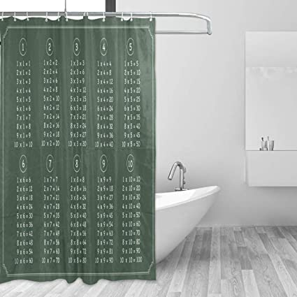 Amazon LUCASE LEMON ALEX Multiplication Table Chalkboard Shower Beauteous 9X5 Bathroom Style