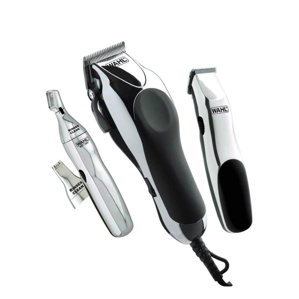 144fd88ba KIT de Cuidados Pessoais Wahl - Completo e Prático para Cortar o Cabelo em  Casa! Máquina de Corte + Aparadores de Pelo + Acessórios - Home Barber: ...