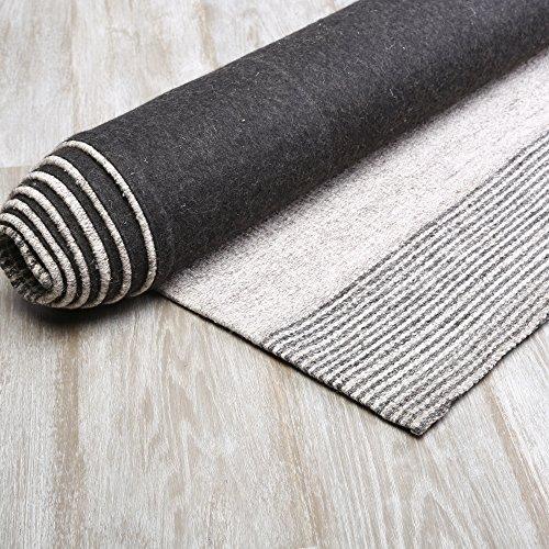 Best Home Fashion - Grey Color block Wool Rug 5' x 8' Wool Felt Block