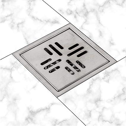 Scarichi Scarichi per pavimento in bagno in acciaio inox antiodore Scarichi per doccia Scarichi per bagno