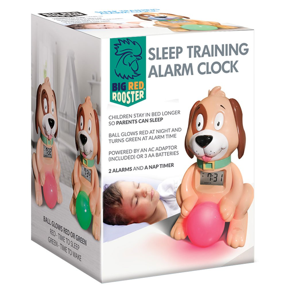 Big Red Rooster BRRC105 Sleep Training Alarm Clock - Plug in Kids Alarm Clock - Childrens Alarm Clock - Toddler Alarm Clock for Boys and Girls - Time to Wake Up London Johnson