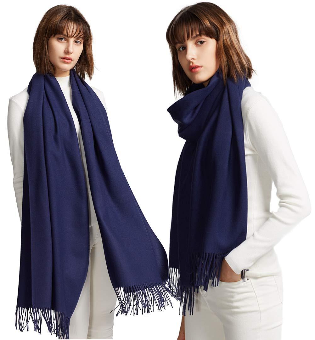 MaaMgic Womens Large Soft Cashmere Feel Pashmina Shawls Wraps Light Scarf by MaaMgic