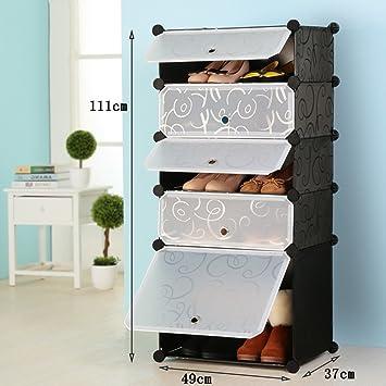 ALUS  Simple Shoe Cabinet Combination Of Large Capacity Multi Storey  Plastic Shelves,