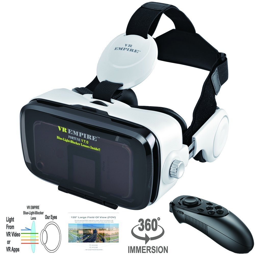 5c21c86bb66 Amazon.com  VR Headset Virtual Reality Headset 3D Glasses with 120 ...
