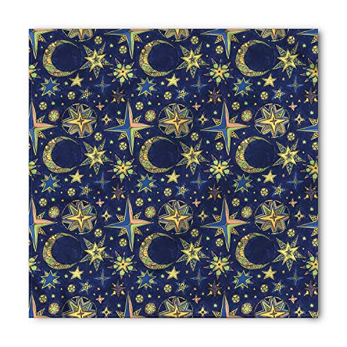 - Lunarable Unisex Bandana, Modern Starry Sky Crescent Moon, Lime Green