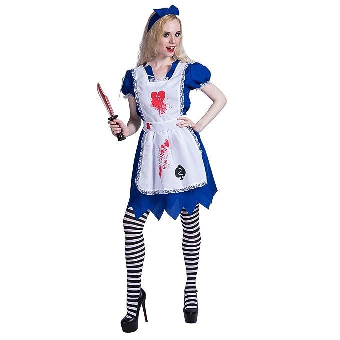 EraSpooky Traje de Halloween de la Criada de Zombie de Las ...