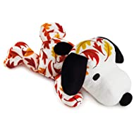 "Peanuts Snoopy Fall Leaves Print Floppy Stuffed Animal, 11"" Classic Stuffed Animals Movies & TV"