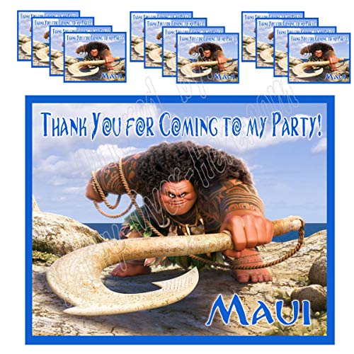 Maui Only Stickers from Moana Party Favors Supplies Decorations Gift Bag Label Stickers ONLY 3.75