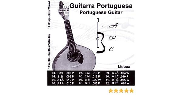 Antonio Carvalho Lisboa - Cuerdas para guitarra portuguesa: Amazon ...