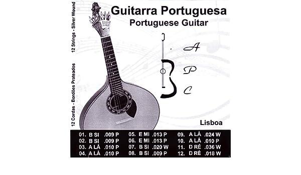 Antonio Carvalho Lisboa - Cuerdas para guitarra portuguesa: Amazon.es: Instrumentos musicales