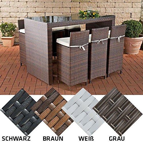 clp poly rattan garten bar set lenox farbe w hlbar 6 barhocker 6 sitzkissen bar tisch 167. Black Bedroom Furniture Sets. Home Design Ideas