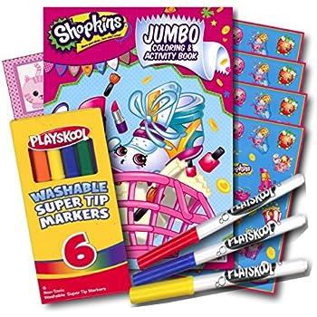Coloring Book 4 : Amazon.com: crayola shopkins color and sticker book: toys & games