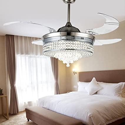 RS Lighting Unique Crystal Ceiling Fan And Light With Remote Control 36W  LED 3 Changing Color