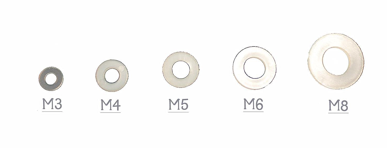25, M16 Unterlegscheiben DIN 125 Polyamid PA 6 Kunststoff M2 M2,5 M3 M4 M5 M6 M8 M10 M12 M14 M16 M18 M20