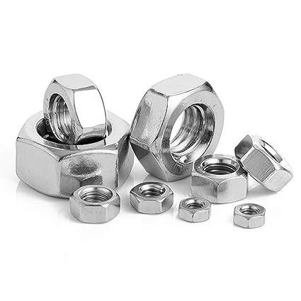 Amazon.com: Tuerca hexagonal de acero inoxidable 304, 50 ...