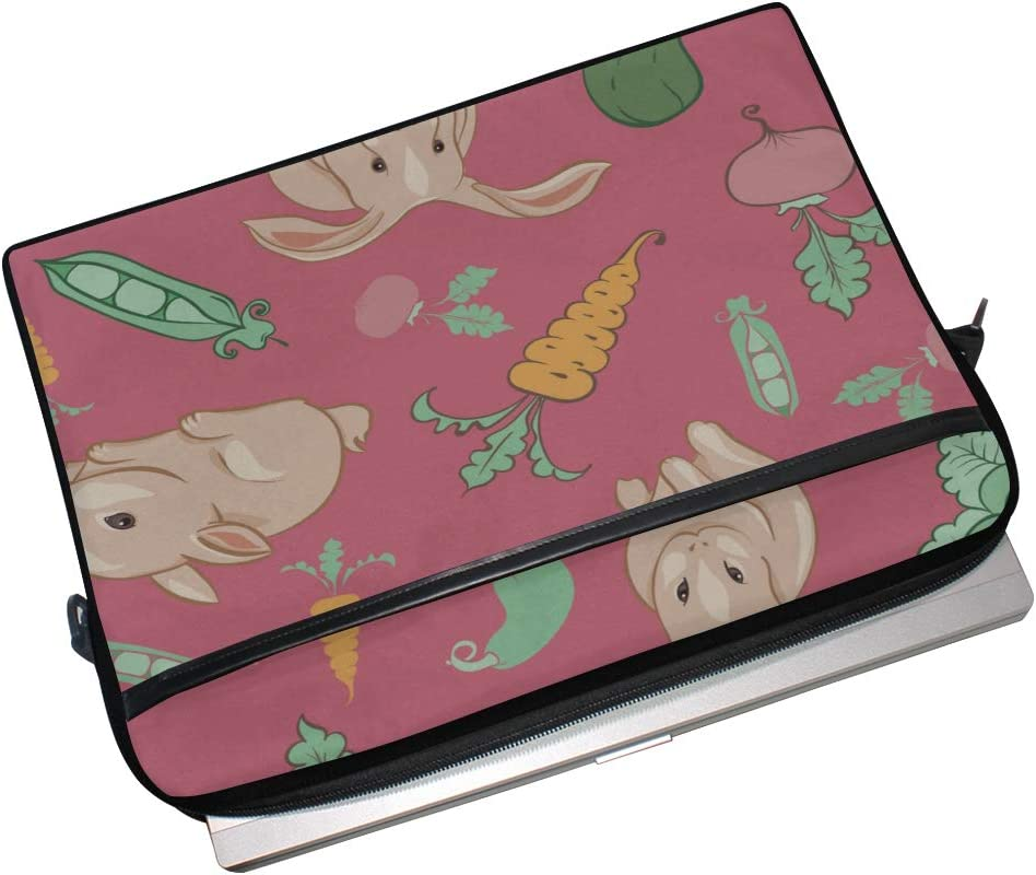 Briefcase Messenger Shoulder Bag for Men Women Laptop Bag Kids Rabbits Different Vegetables 15-15.4 Inch Laptop Case College Students Business Peop