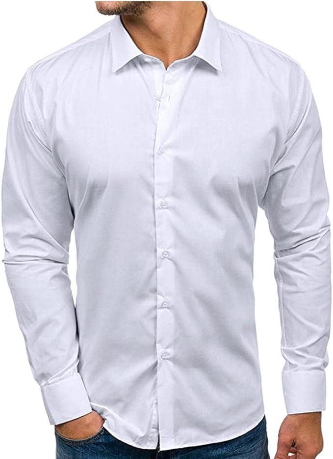 Yvelands Liquidación Camisa Formal Casual para Hombres, Solapa para Hombres Camisa Slim fit Casual para otoño Blusa Superior Camisa Hombres: Amazon.es: Ropa y accesorios