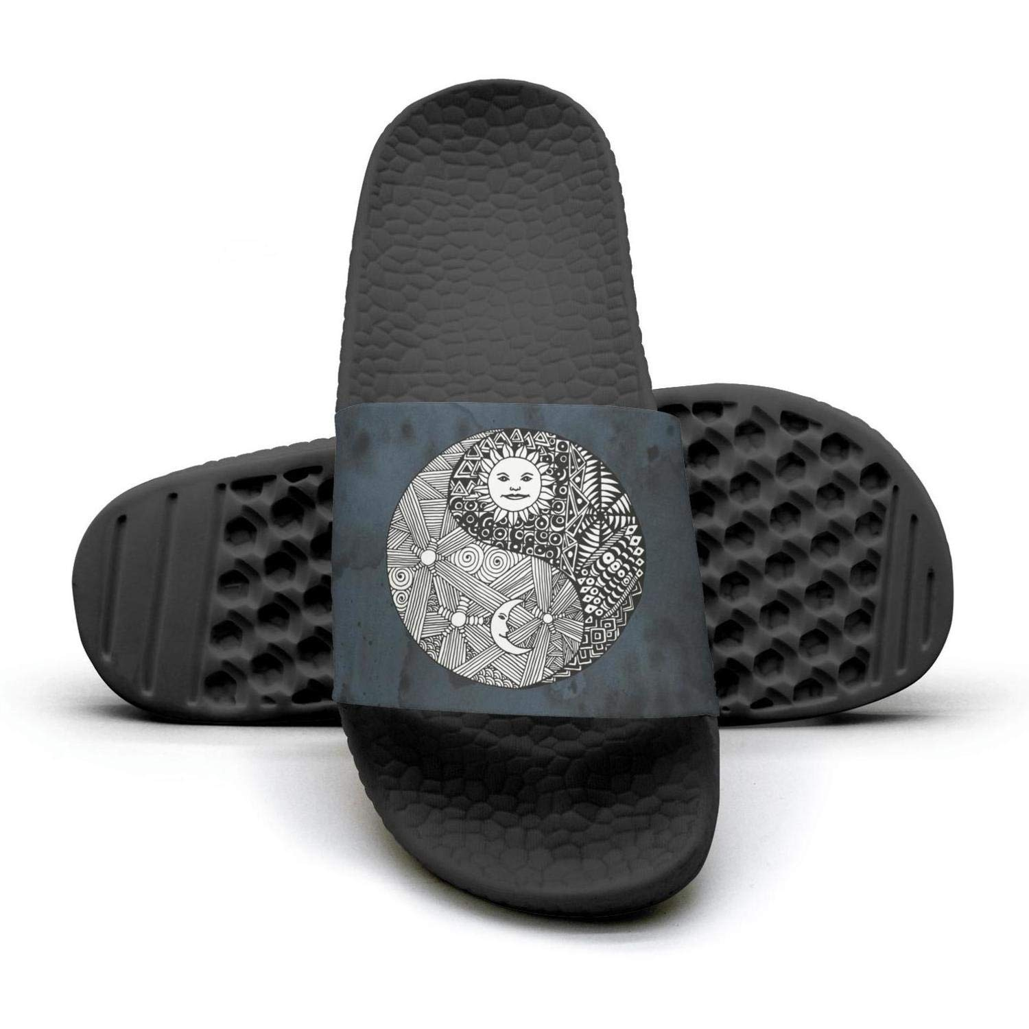 Yin yang sun moon at night Slippers Sandals Slippers for Men