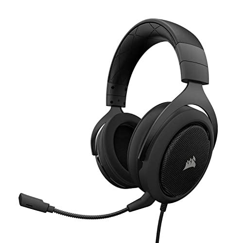 Corsair HS50 Stereo Auriculares gaming con micrófono desmontable para PC PS4 Xbox Switch móvil Negro Corsair ST100 RGB Negro