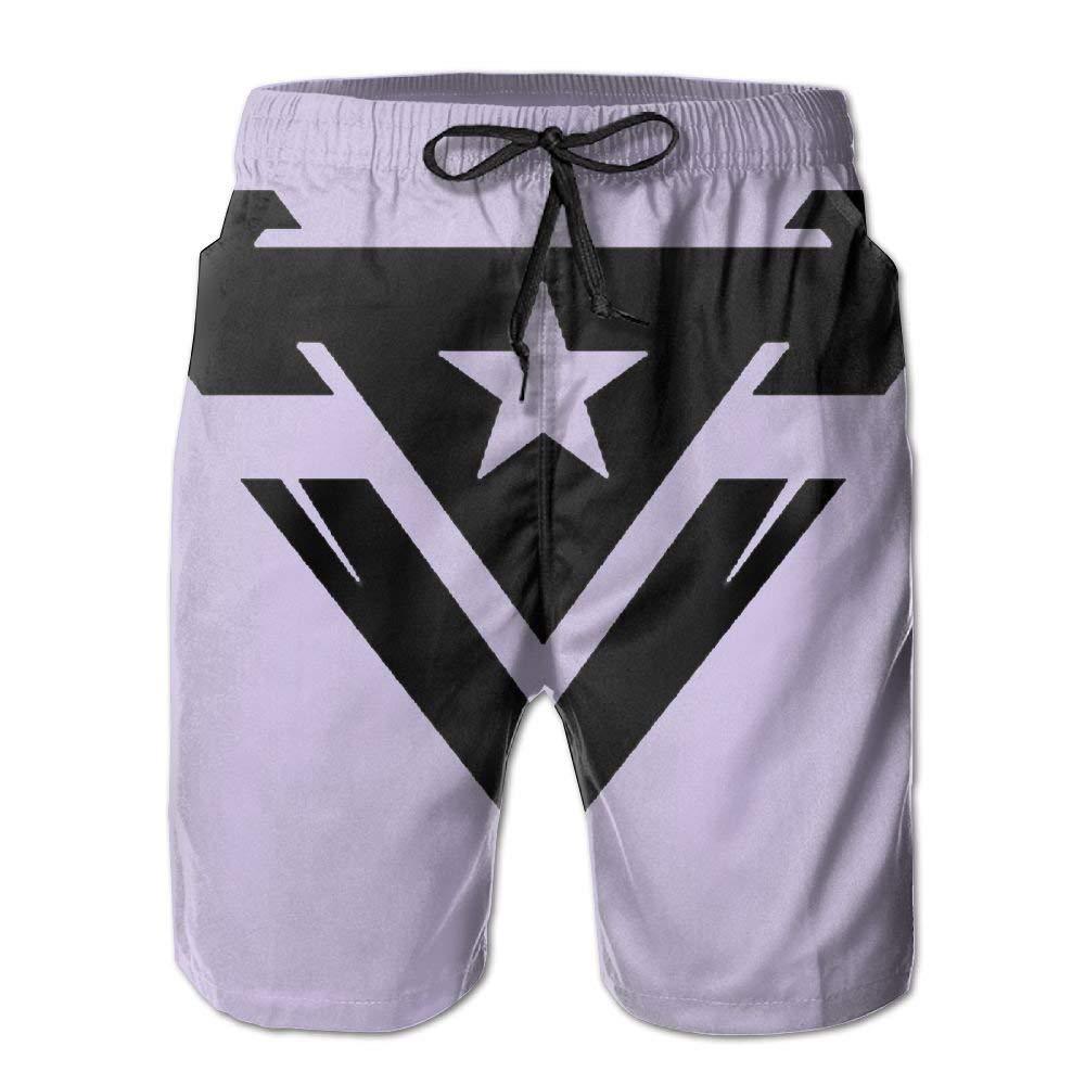 DDYJ UNSC Army Logo Boardshorts Mens Swimtrunks Fashion Beach Shorts Casual Shorts Swim Trunks
