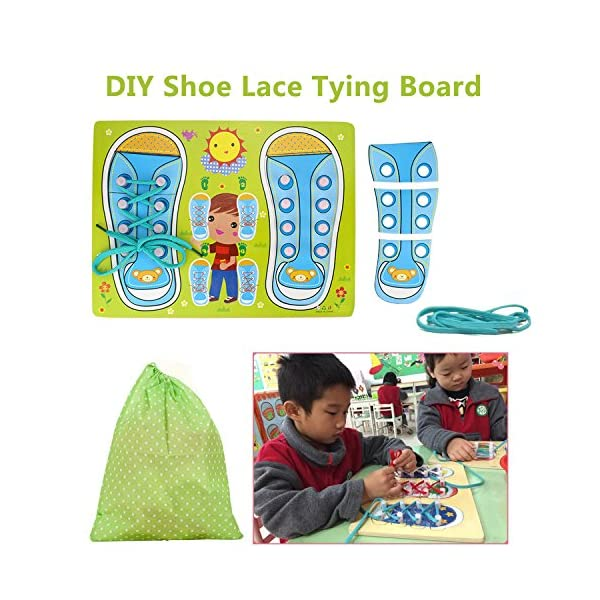 Home Lovely New Teaching Kindergarten Kids Puzzle Early Educational Toys Toddler Lacing Shoes Leaning To Tie Shoelaces Toy Teaching Aids Traveling