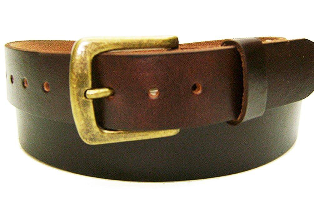 Modestone Unisex Leather Belt 1.5 Width 1//8 Thick Brown