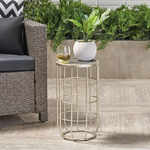 Great Deal Furniture Sophia Outdoor 11 Inch Grey Finish Ceramic Tile Side Table by Great Deal Furniture