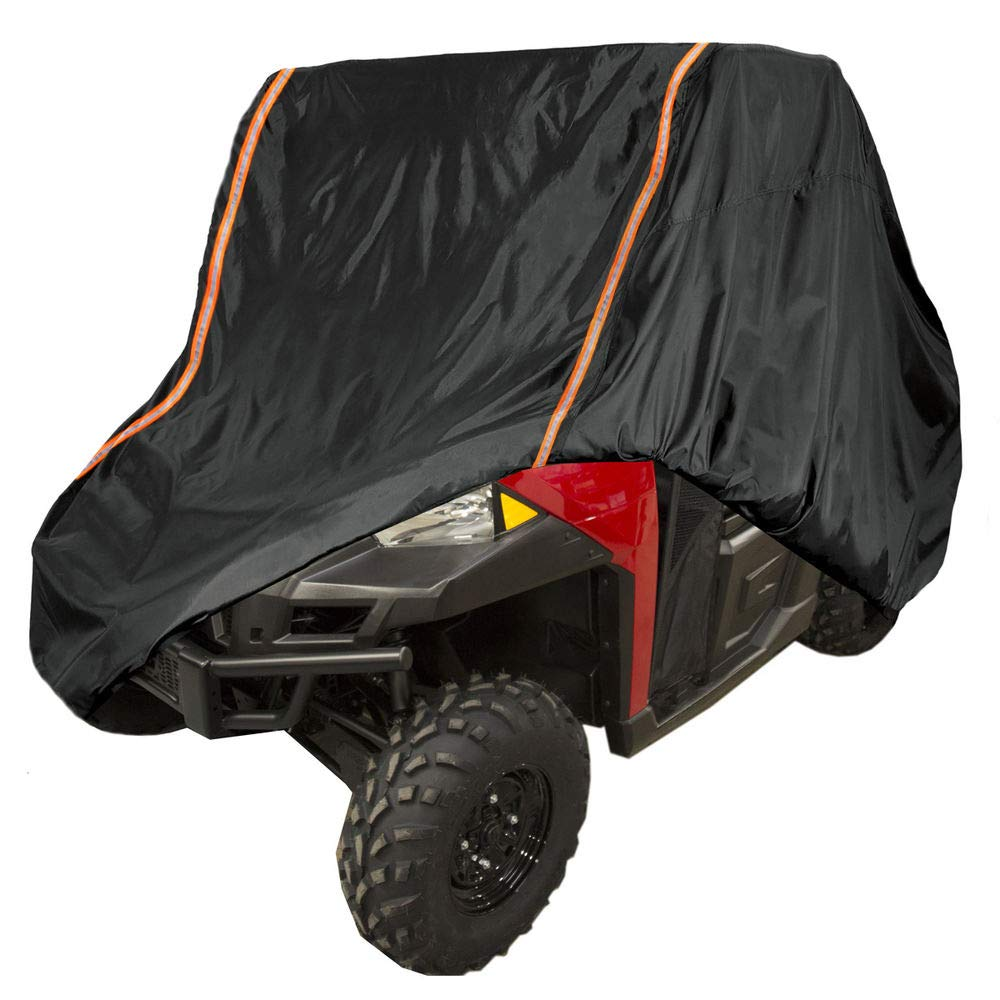 UTV Rain Sun Dust Storage Cover with Rlective Strip for Polaris Ranger RZR 570 700 800 900 S 1000 XP Protect Your SxS Vehicle from Rain, Snow, Dirt, Debris and Damaging UV Rays
