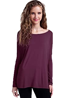ca68a68c862 Piko Women's Famous 3/4 Sleeve Bamboo Top Loose Fit at Amazon ...