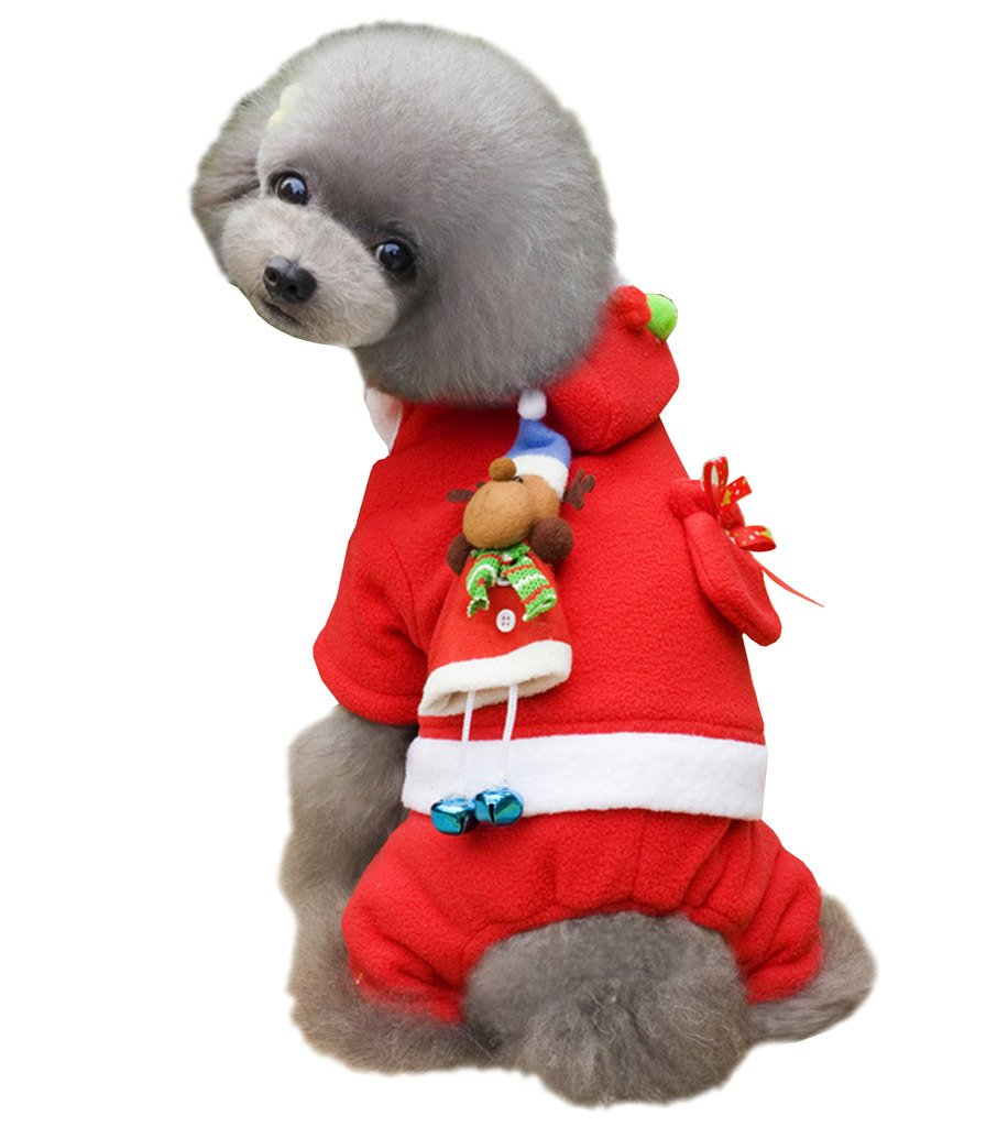 Girl XXL Girl XXL PetBoBo Pet Dog Cat Christmas Costumes Coat Santa Claus Suit Small Medium Large Dogs Cat Christmas Girl Hoodies Clothes Red XXL